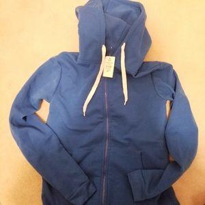 Blue hoodie onesie